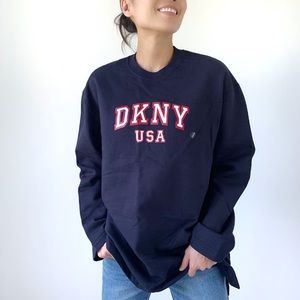 Designer DKNY SWEATSHIRT CREW NECK TOP